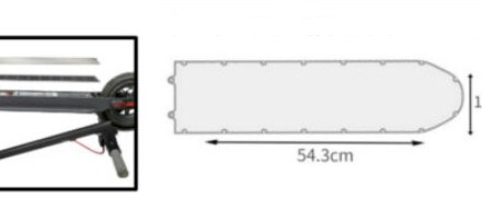 Нижняя защитная крышка аккумулятора KickScooter MAX SS-max0024