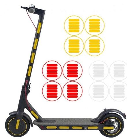 Наклейка светоотражающая, цвет: красный, серебристый, желтый комплект SS-max 0028